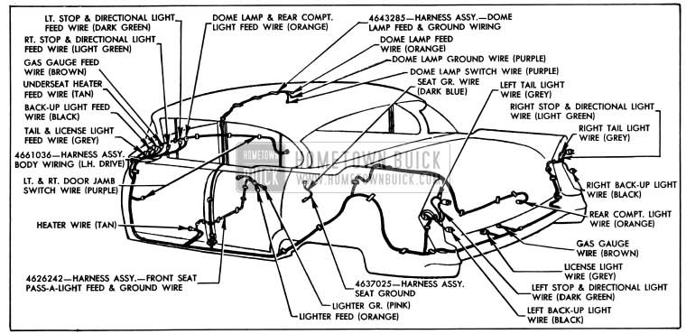 1955 buick wiring