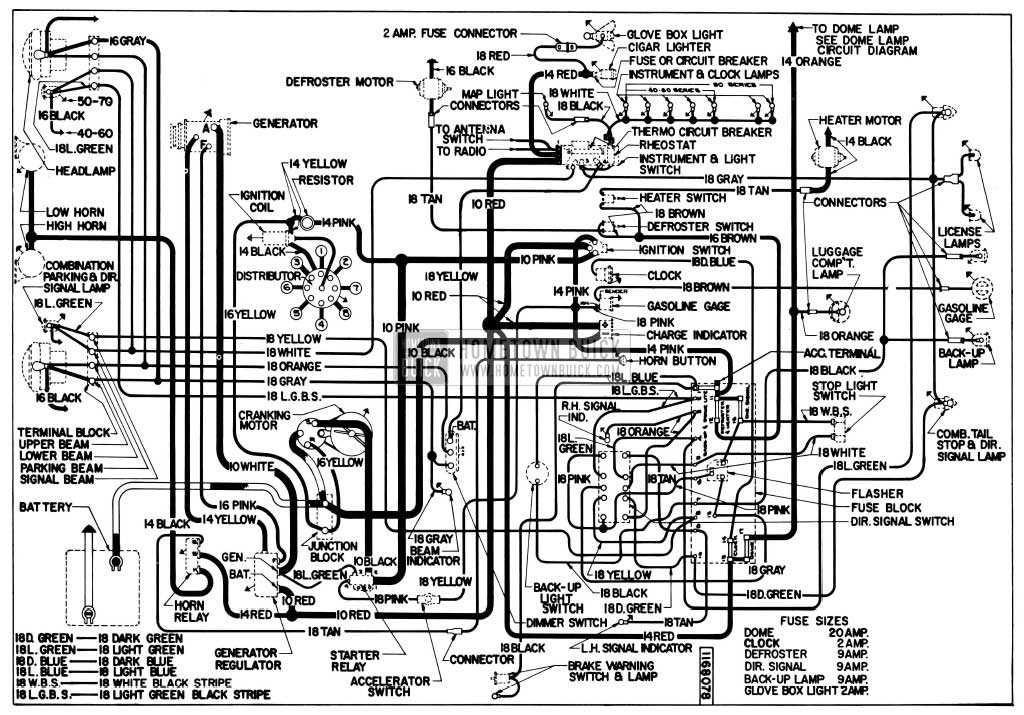 1955 Buick Wiring Diagrams - Hometown Buick