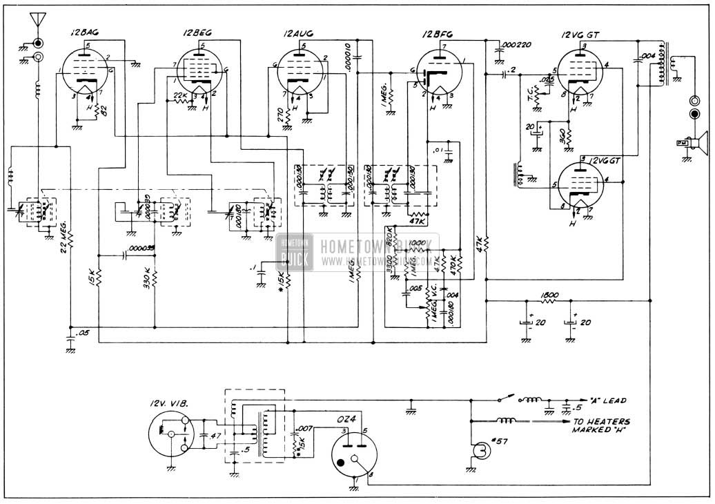 antique automobile radio wiring diagram