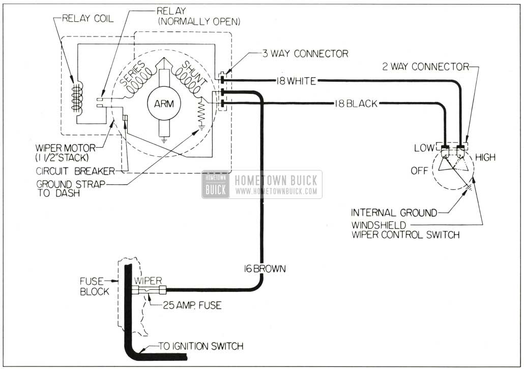 wiring diagram gm wiper