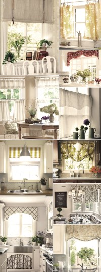 Shabby Chic Decor And Kitchen Curtain Ideas