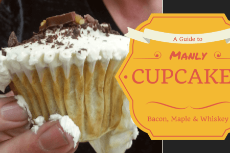 Manly Cupcakes: Bacon, maple and whiskey