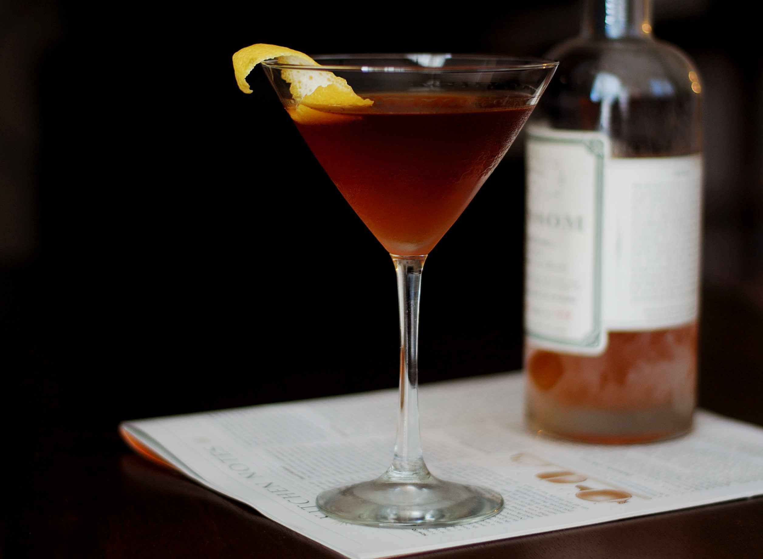 The Martinez Cocktail Recipe — Dishmaps
