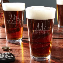 Small Crop Of Personalized Pint Glasses