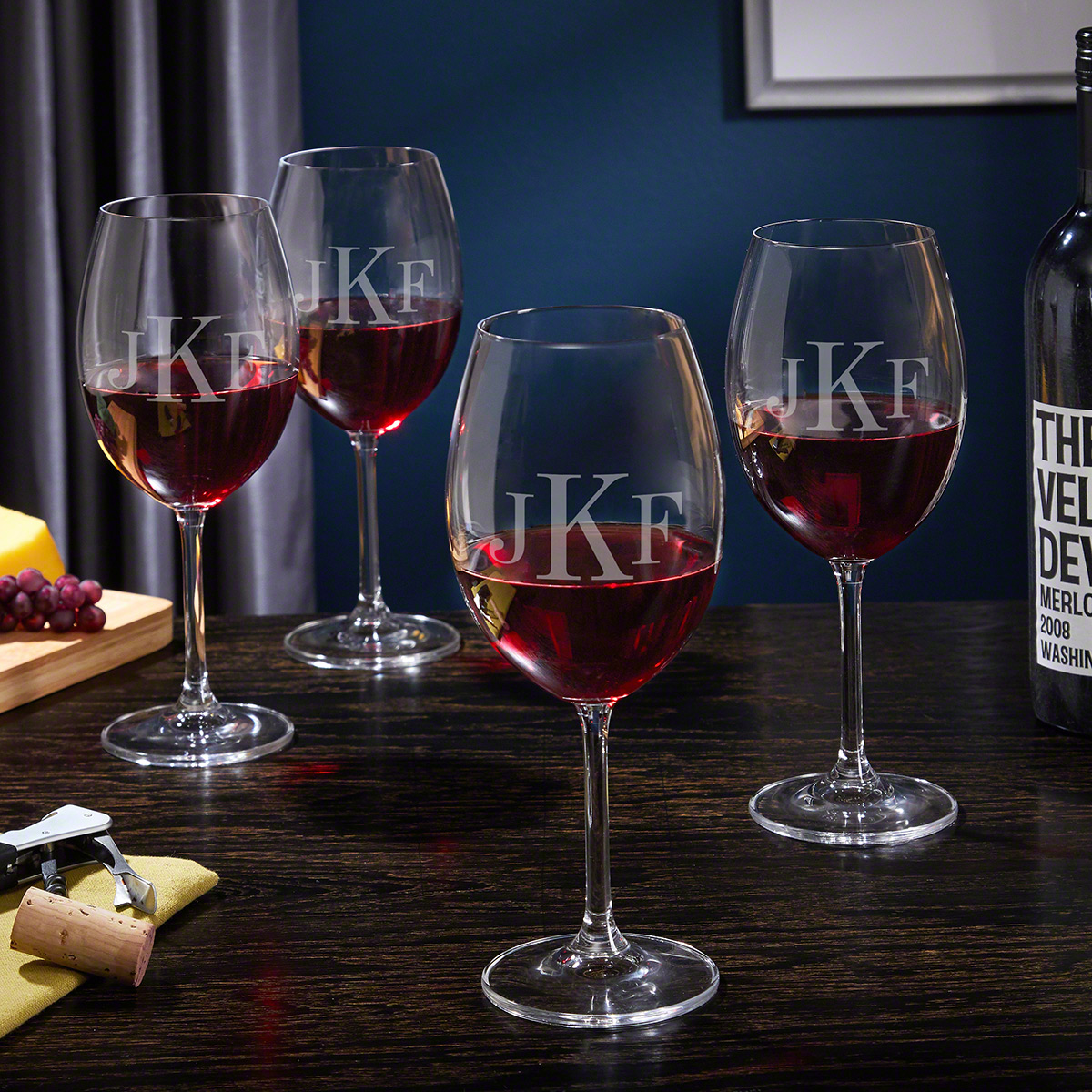 monogram wine stoppers