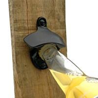 Black Cast Iron Wall Mounted Bottle Opener