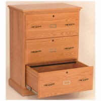 3 Drawer Lateral File Cabinet - Home Wood Furniture