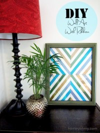 DIY Wall Art With Ribbon - Homey Oh My