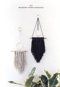 DIY Modern Yarn Hanging - Homey Oh My