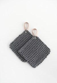 DIY Knit Potholders - Homey Oh My