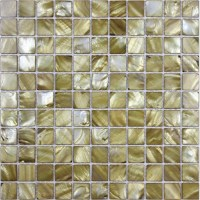 shell tiles 100% gold seashell mosaic mother of pearl ...