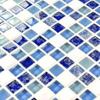 Glass mosaic tile white marble stone mosaic glass mosaic ...