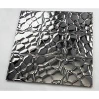 Metallic Mosaic Tile Glossy Metal Tile Brick Bathroom Wall ...