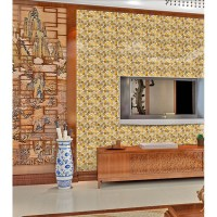 gold 304 stainless steel metal tiles crystal glass mosaic ...