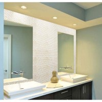 Mother of Pearl Tile Bathroom Mirror Wall Backsplash