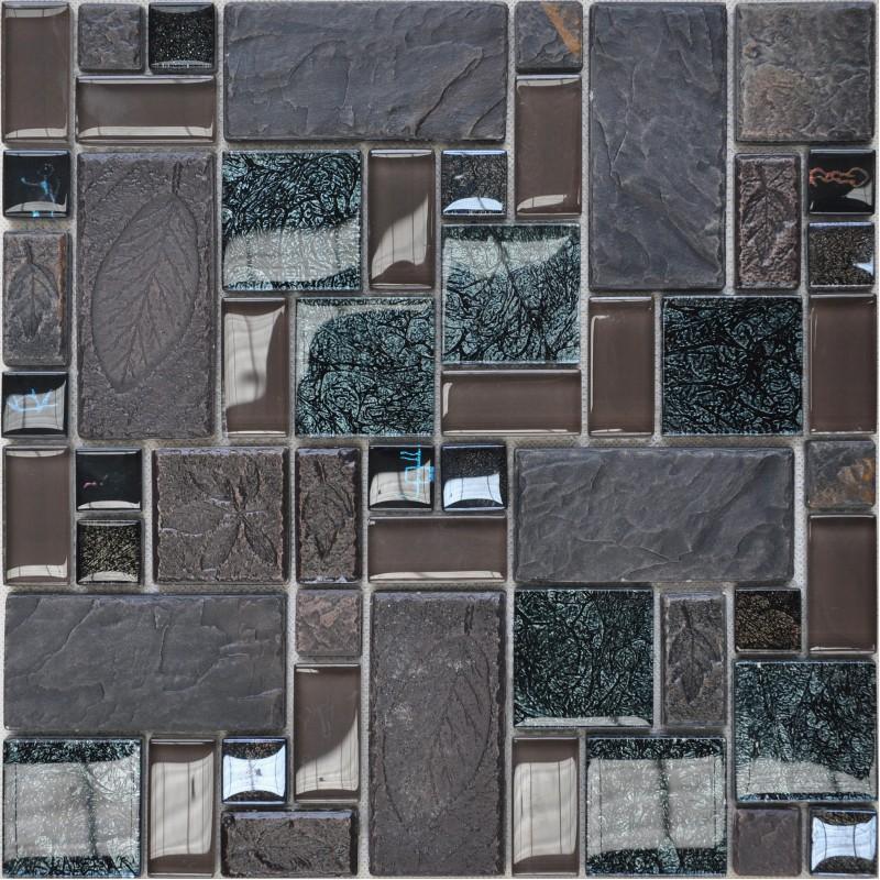 Fireplace 3d Wallpaper Wholesale Porcelain Glass Tile Wall Backsplash Grey