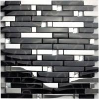 Metallic Backsplash Tiles Silver Stainless Steel Metal ...