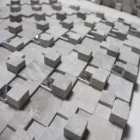 Stone Glass Mosaic Tile Gray 3D Bathroom Wall Tiles