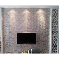 Silver Metal Tile Backsplash Kitchen Cheap Stainless Steel ...