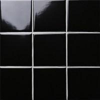 Black Gloss Tiles Wall | Tile Design Ideas