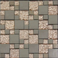 Copper Glass and Porcelain Square Mosaic Tile Designs ...