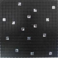 Adhesive Mosaic Tile Backsplash Black Aluminum Metal and ...