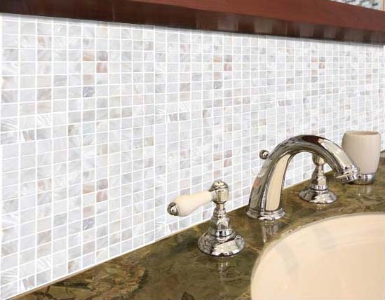 Shell Tiles Kitchen Backsplash Tile Mother of Pearl Mosaic