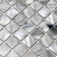 shell tiles 100% grey seashell mosaic mother of pearl ...