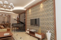 Porcelain and Glass Wall Tile Backsplash Fireplace Crystal ...