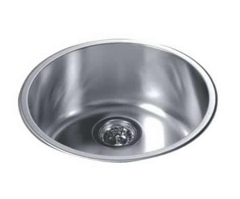 Wholesale Round Kitchen Sink Top Mount Single Bowl 304