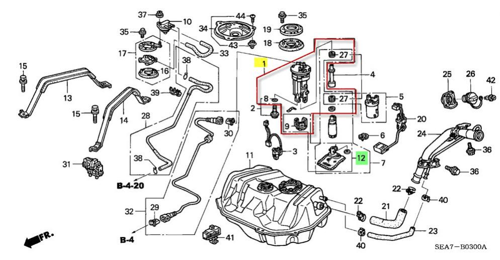 98 Honda Accord Fuel Filter Location Wiring Diagram