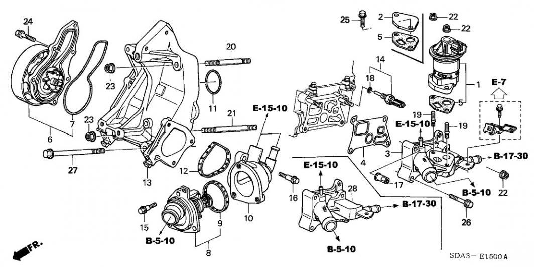 honda r18 engine diagram