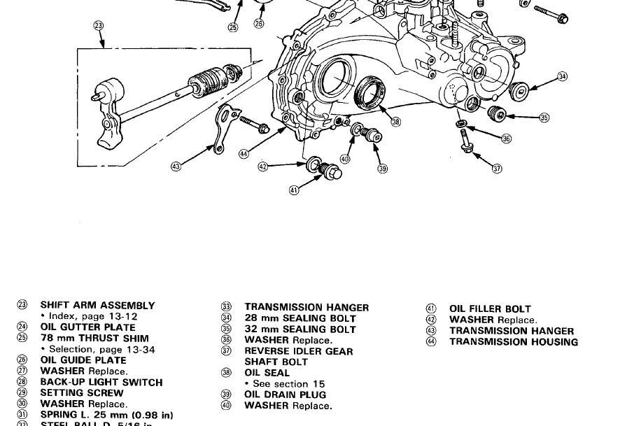 04 honda accord transmission drain plug