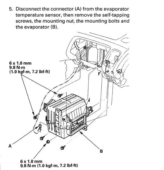 evaporator removal \u002798 Accord - Honda Accord Forum - Honda Accord