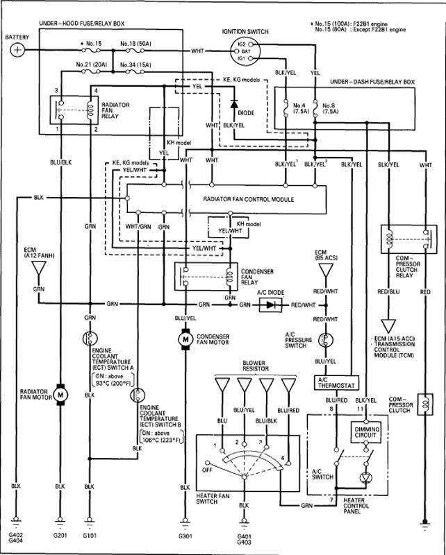 94 Accord Condenser Diagram Wiring Diagram