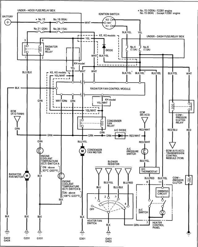 wiring diagram cooling fans 96 honda accord