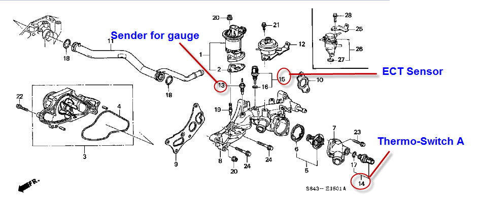 2000 honda civic ex fuel filter location