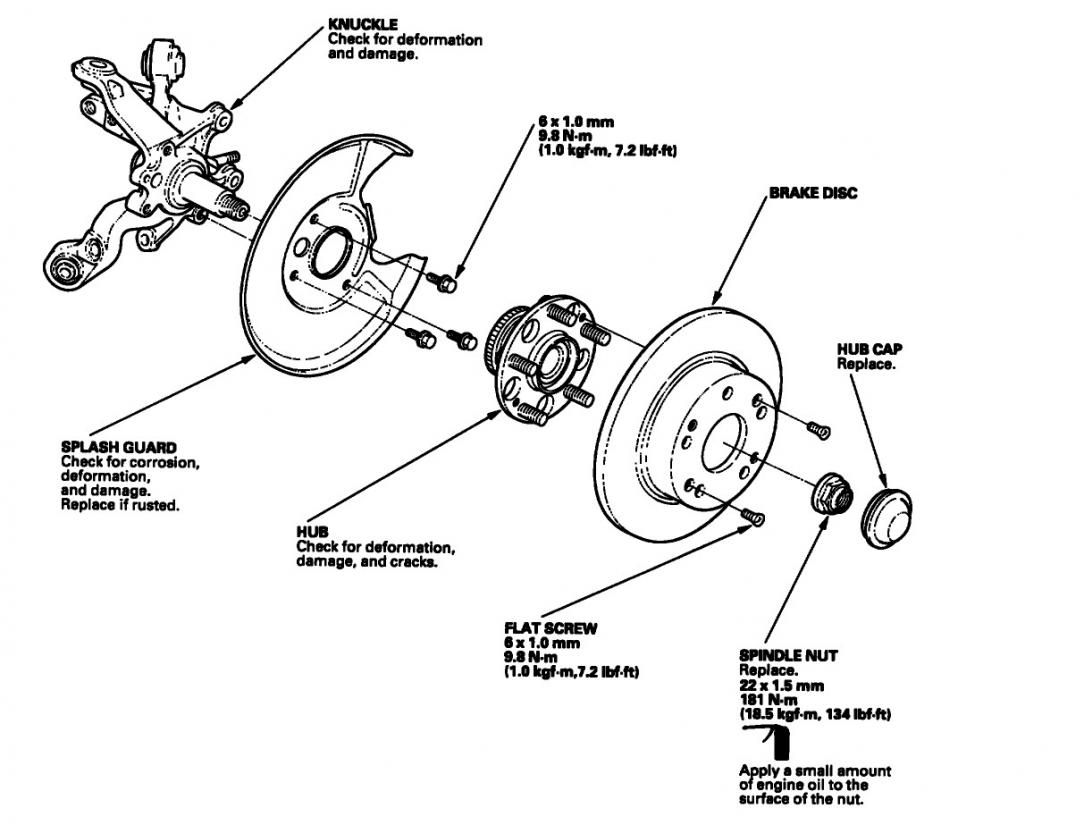 honda accord front wheel diagram