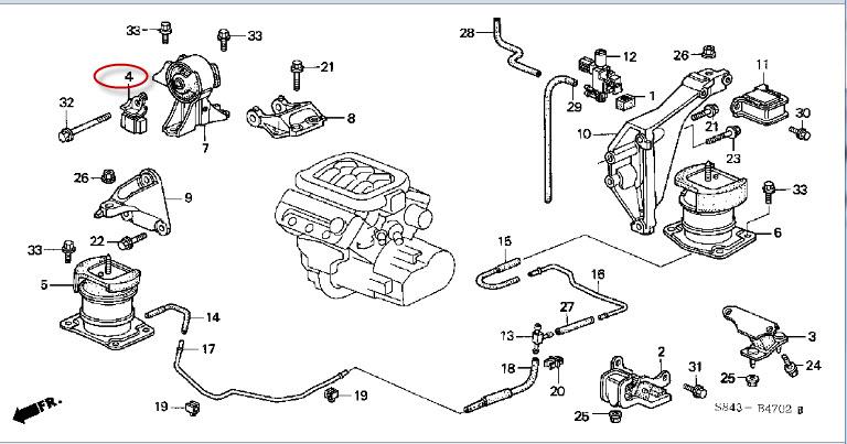 accord motor mount location