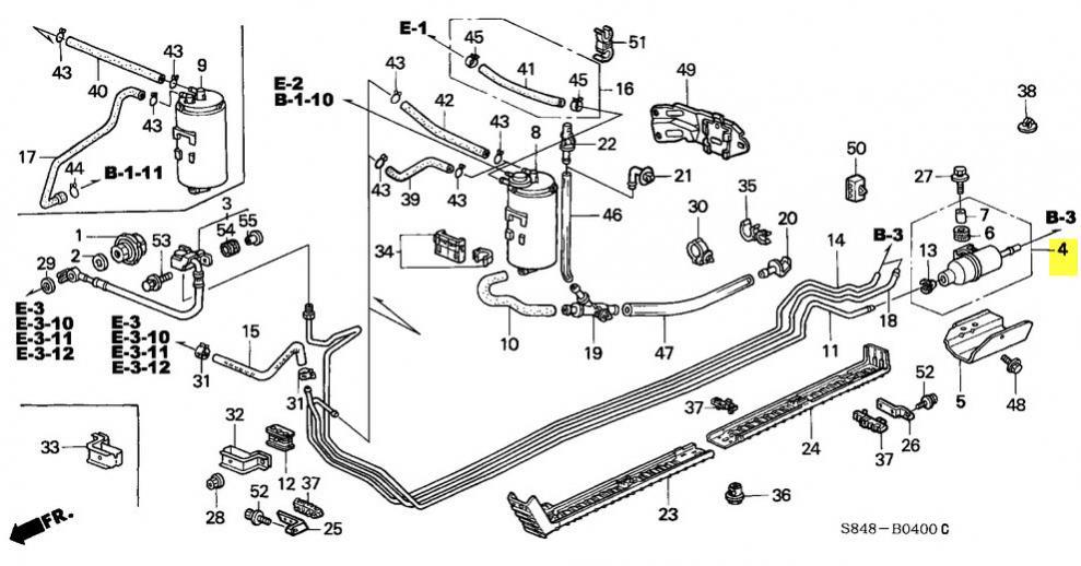 1983 honda accord fuel filter location