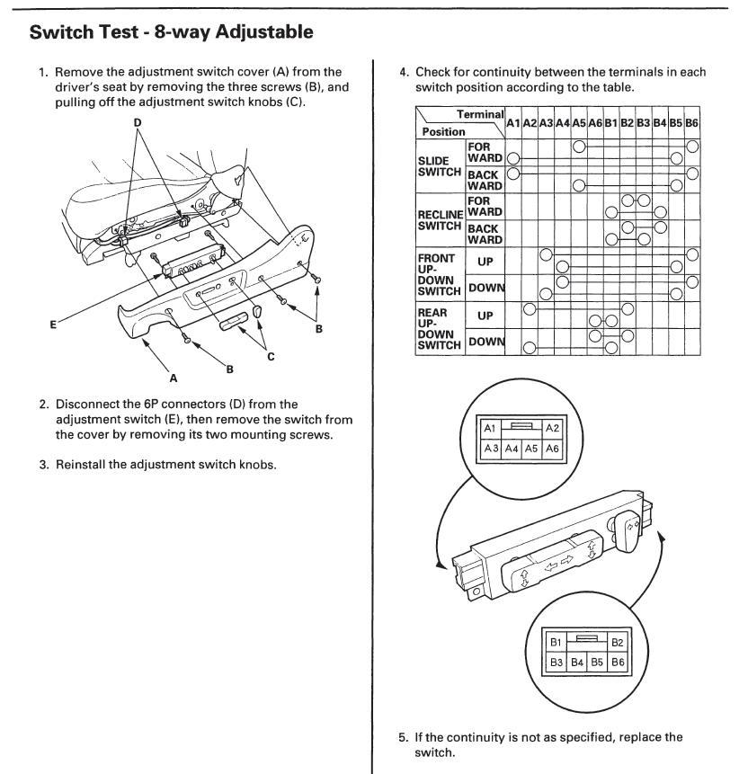 Honda Power Seat Wiring Wiring Schematic Diagram