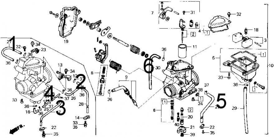 honda fourtrax 250 carburetor diagram