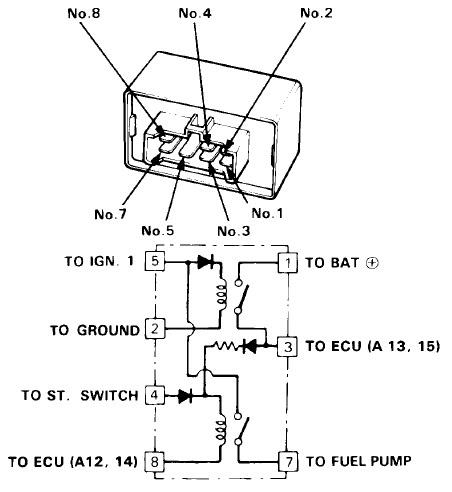 Honda Relay Diagram - Wiring Diagrams