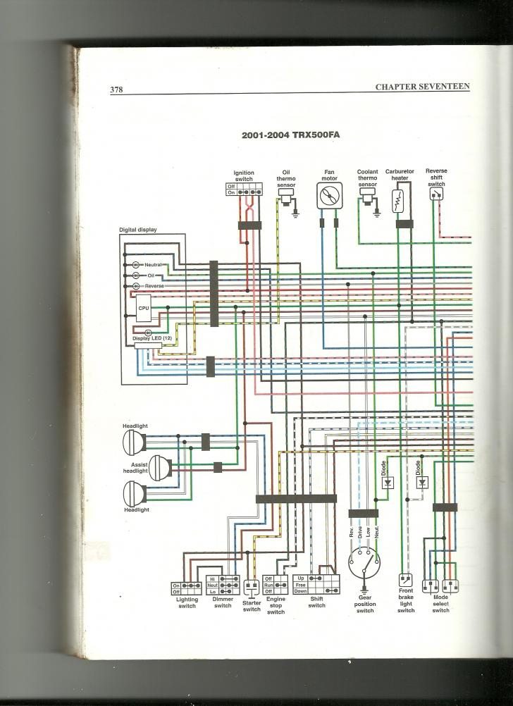 wiring diagram needs for 01 rubicon 500 - Honda Foreman Forums