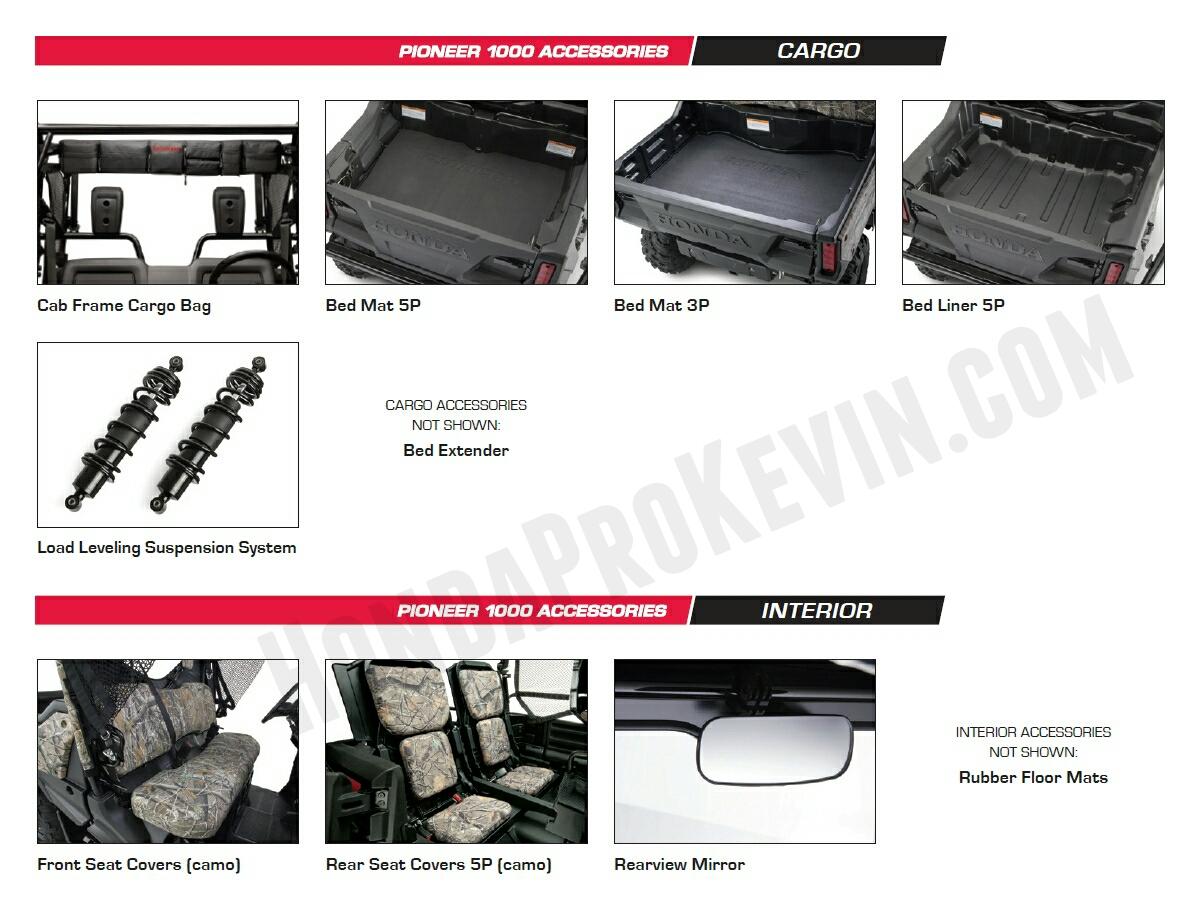 2016 Honda Pioneer 1000 Parts Amp Accessories Review Honda