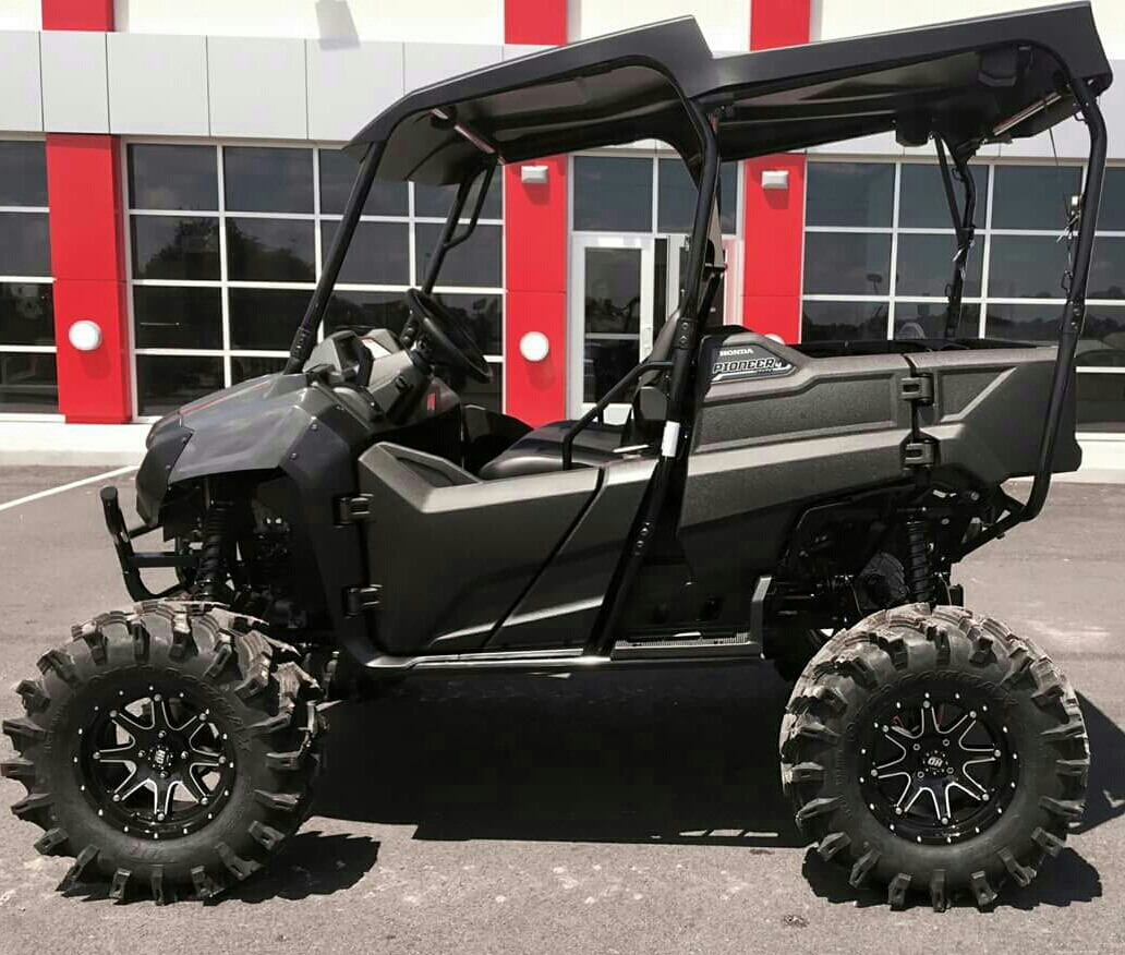 honda pioneer 700 lift kit 5 7 31 tires sxs utv side by side atv outkast fabworx. Black Bedroom Furniture Sets. Home Design Ideas