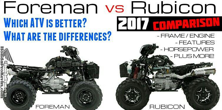 2017 Honda Foreman 500 VS Rubicon Comparison - Which is Better?