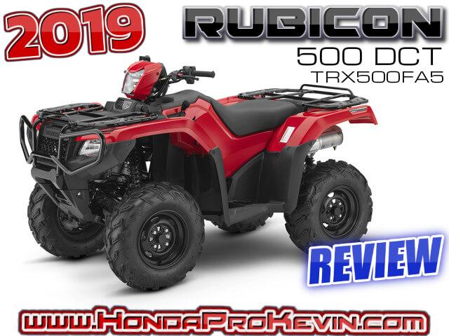 2019 Honda Rubicon 500 DCT ATV Review / Specs + RD TRX500FA5