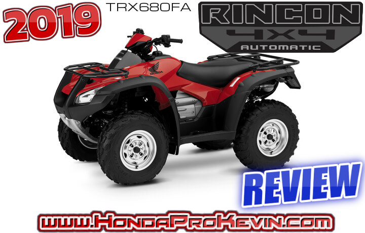 2019 Honda Rincon 680 ATV Review / Specs + RD Info 4x4 Automatic