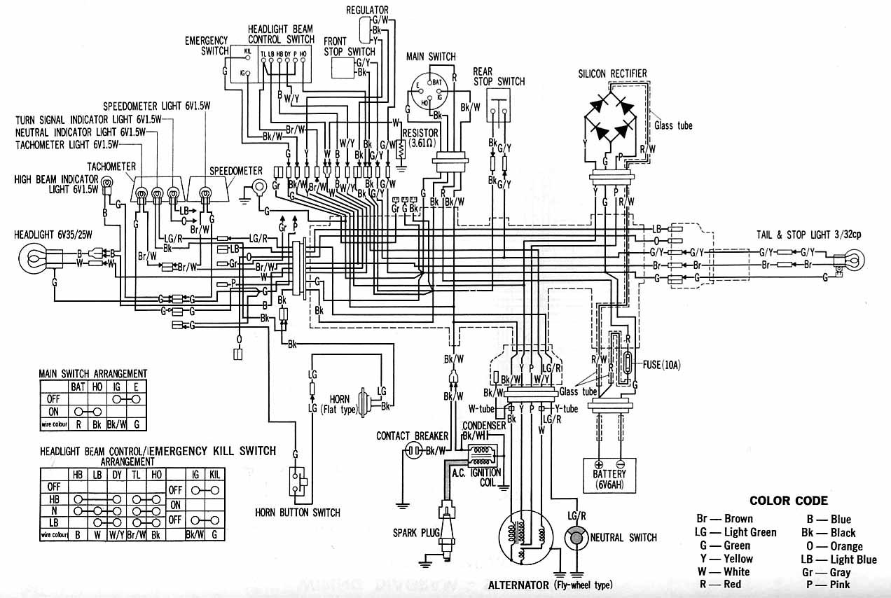 1973 honda xl250 wiring diagram